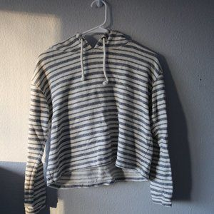 Forever 21 Tops - FOREVER 21 Cropped Striped Hoddie